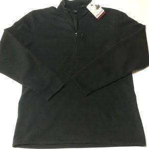 Marmot 3/4 Zip Pullover Black Fleece XL